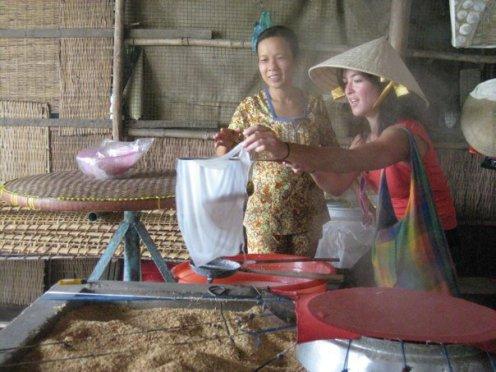 Making Rice Wraps