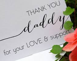 Saying Thank You To My Dad