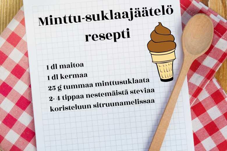 minttusuklaa jäätelö