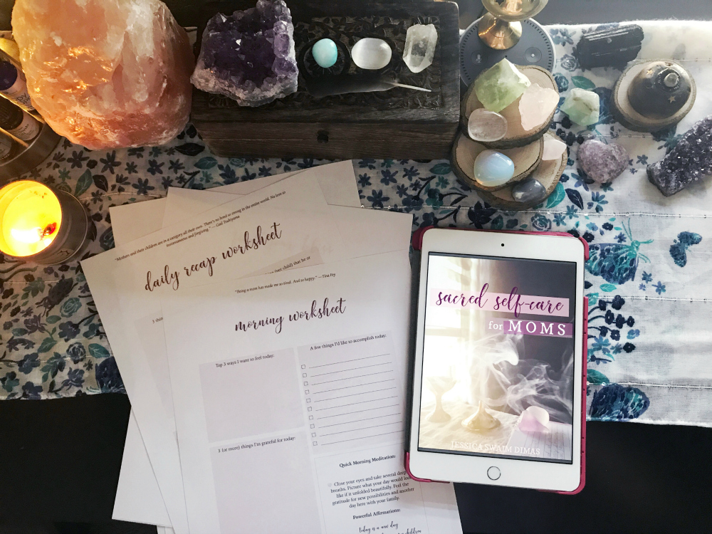 Sacred Self-Care Book and worksheets