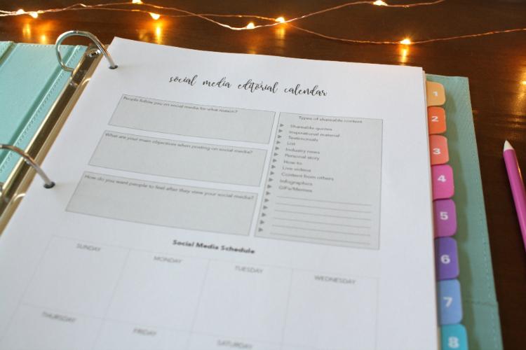 Social Media Editorial Calendar copy