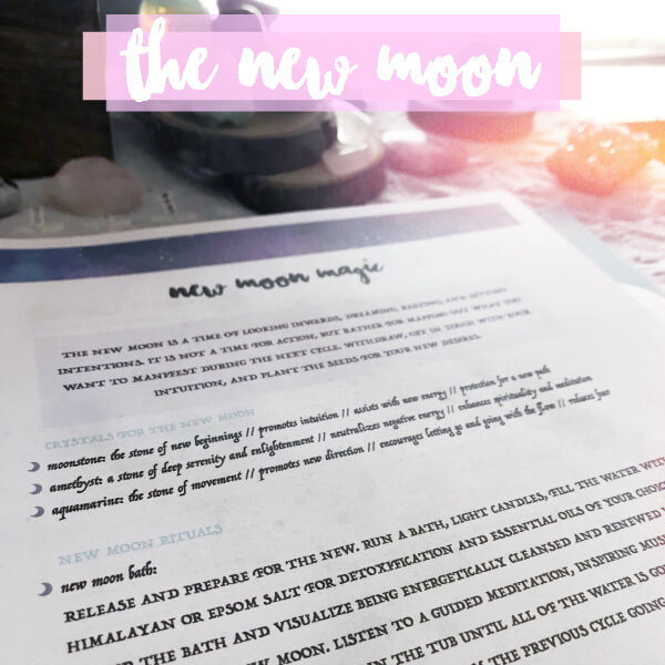 Sacred self-care rituals and exercises that touch on all main areas of manifesting. #moonmagic #moonritual #rituals #selfcare #selfcareritual #moonmagick #witchythings #fullmoonritual #newmoonritual