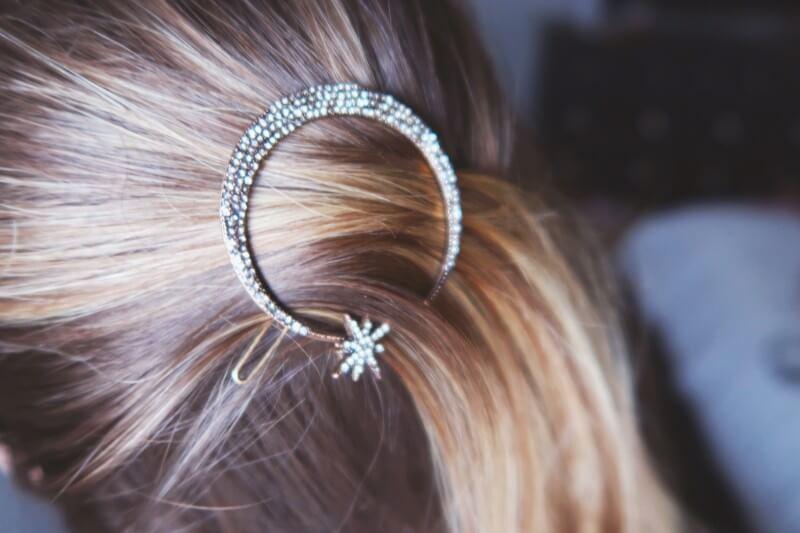 Anita Apothecary Pave Moon Hair Pin