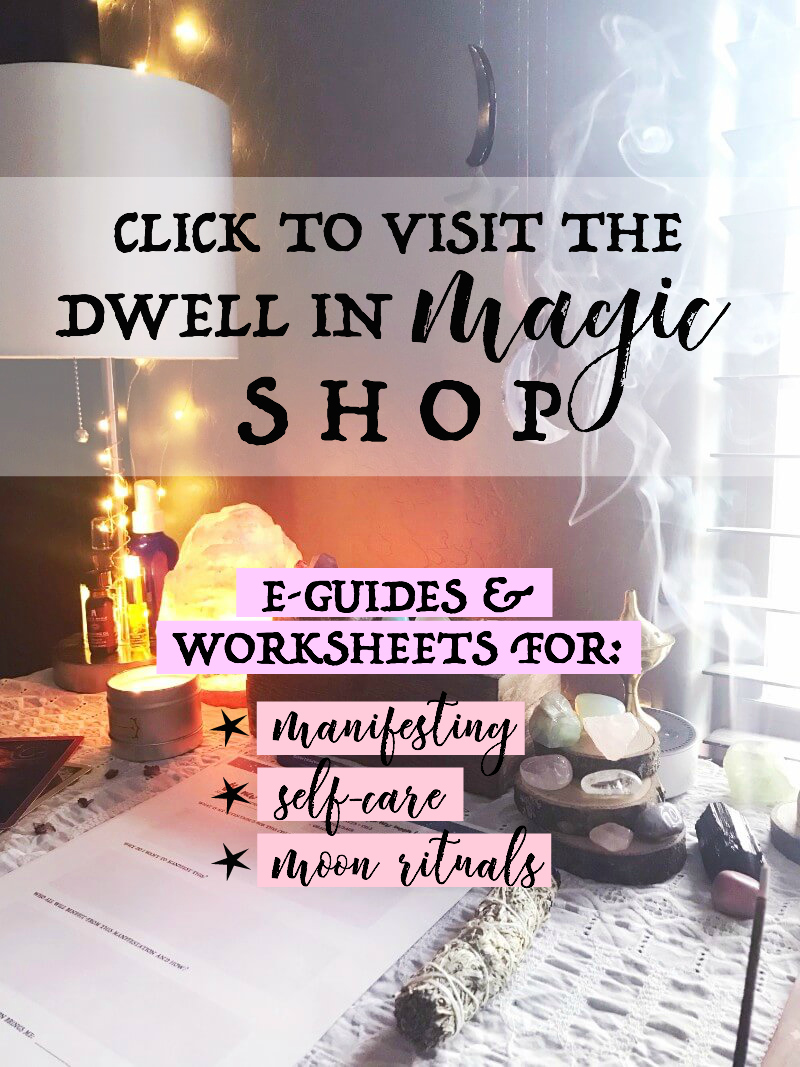 The Dwell in Magic Shop carries transformative e-guides & worksheets for manifesting, self-care and moon rituals #manifesting #manifestingtechniques #manifestinglove #manifestinglawofattraction #lawofattractionquotes #lawofattractionvisionboard #lawofattractionandlove #lawofattractionplanner #selfcareroutine #selfcareideas #selfcareproducts #selfcaretips #moonritual #moonrituals #moonritualsmagic #magick