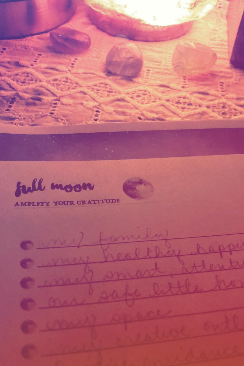 full moon appreciation list