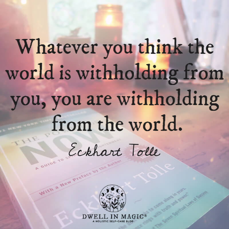 Whatever you think Eckhart Tolle quote