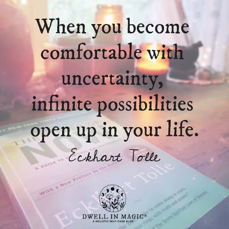 When you become comfortable Eckhart Tolle