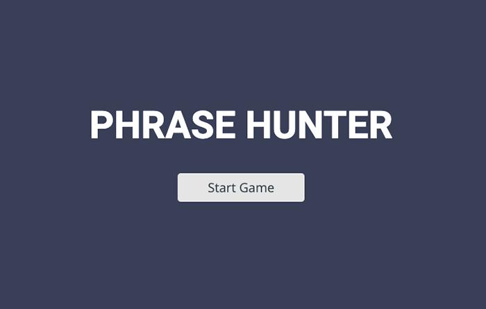 Phrase Hunter Game