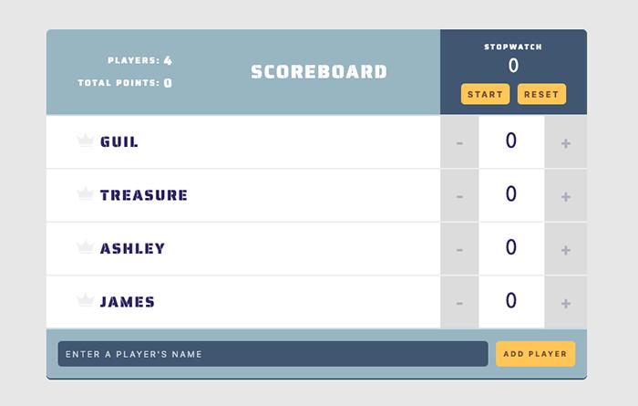 React Scoreboard