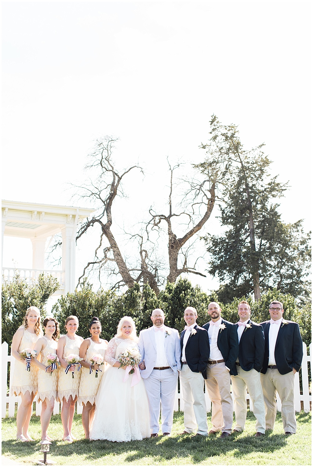 neutral bridal party, navy and pink southern wedding   Ivan & Louise Images and Jessica Dum Wedding Coordination