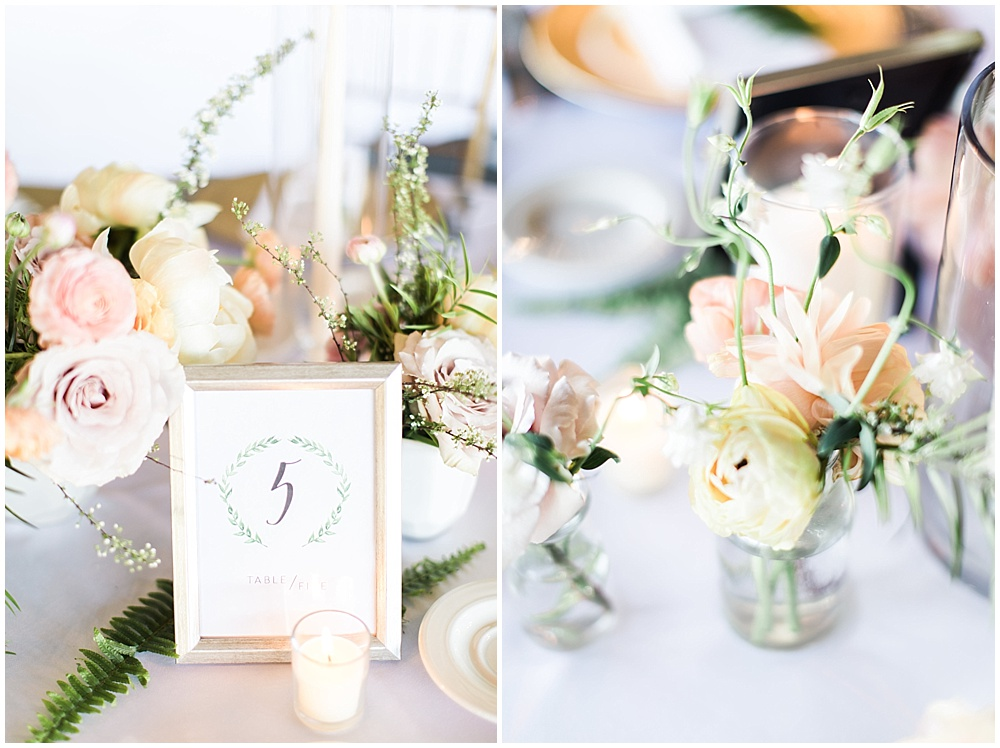 peach and pink centerpieces, Spring floral + gold wedding | Ivan & Louise Images | Jessica Dum Wedding Coordination