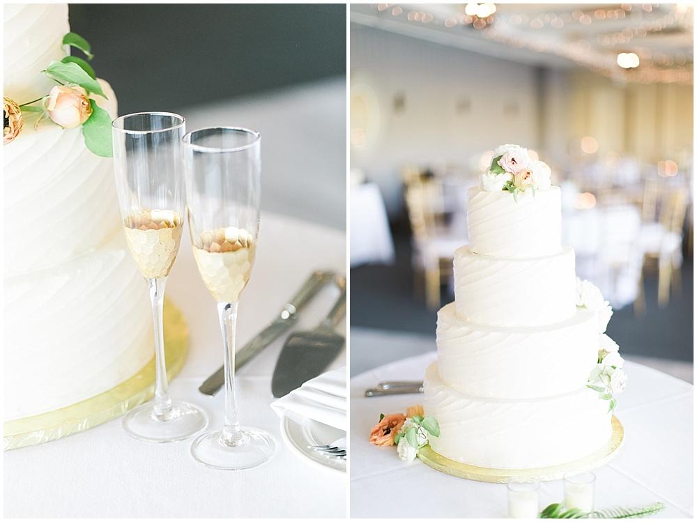 white wedding cake, Spring floral + gold wedding | Ivan & Louise Images | Jessica Dum Wedding Coordination