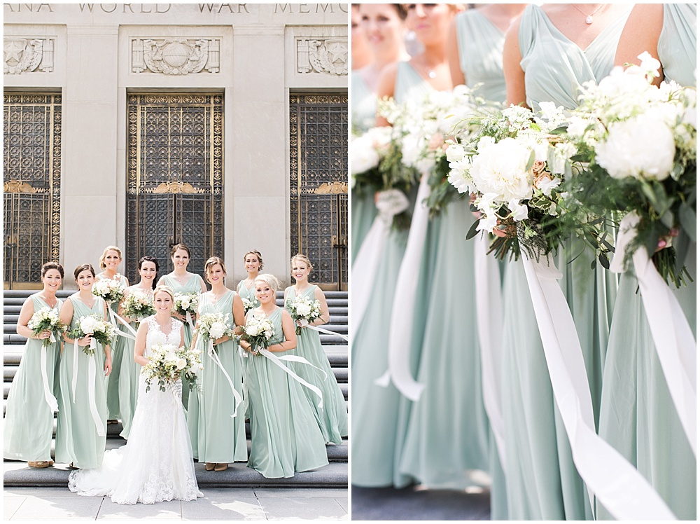 green and white bridesmaids | floral and greenery wedding| Ivan & Louise Images and Jessica Dum Wedding Coordination