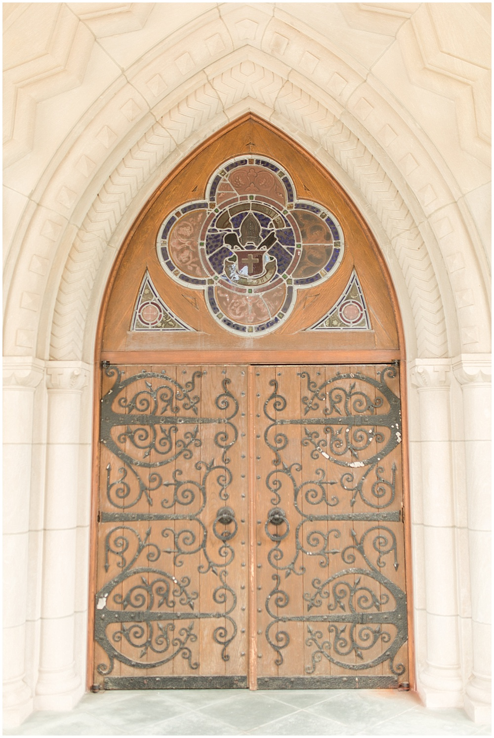 st. paul's episcopal church; wood archway doors   Sami Renee Photography + Jessica Dum Wedding Coordination