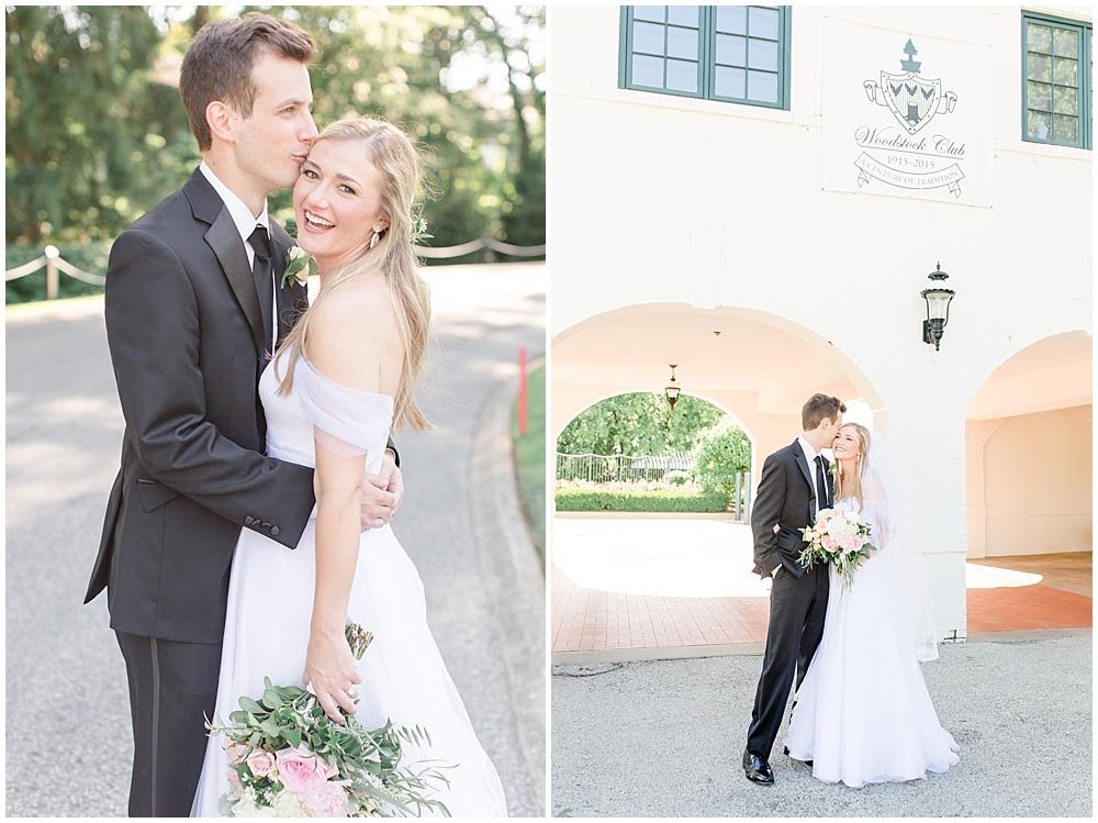 bride and groom formal portraits; woodstock country club wedding  Sami Renee Photography + Jessica Dum Wedding Coordination