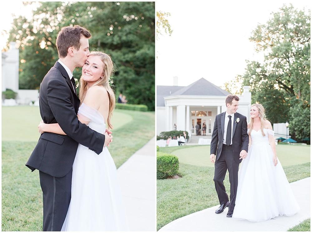 Bride and Groom sunset photos; country club wedding   Sami Renee Photography + Jessica Dum Wedding Coordination