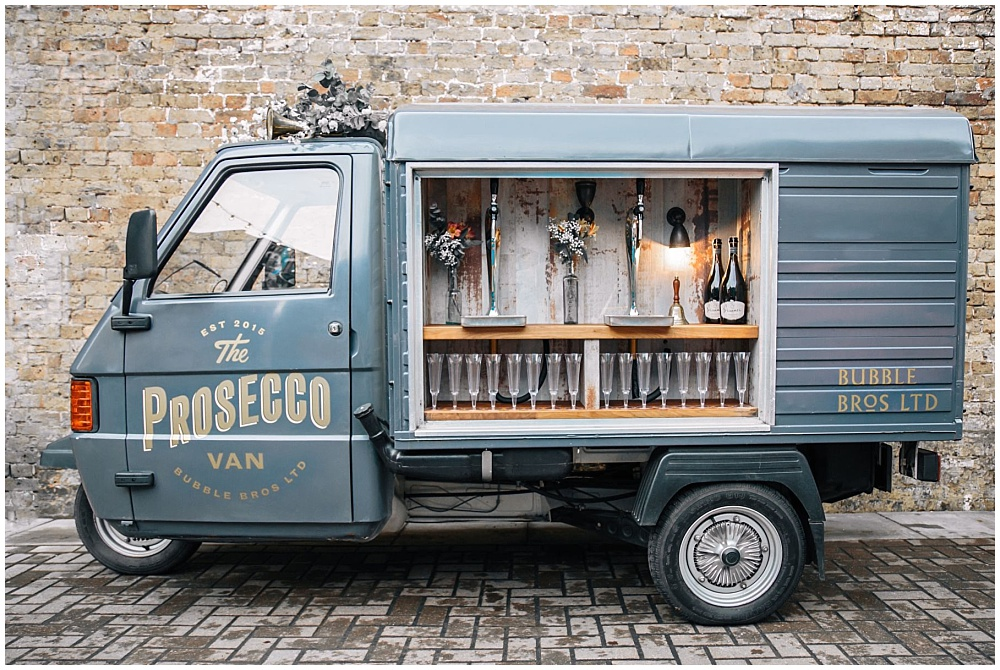 7 Waysto Make Your Wedding Interactive | interactive wedding; wedding ideas; prosecco van; prosecco truck; bubble bros; bubbly truck; build your own champagne bar