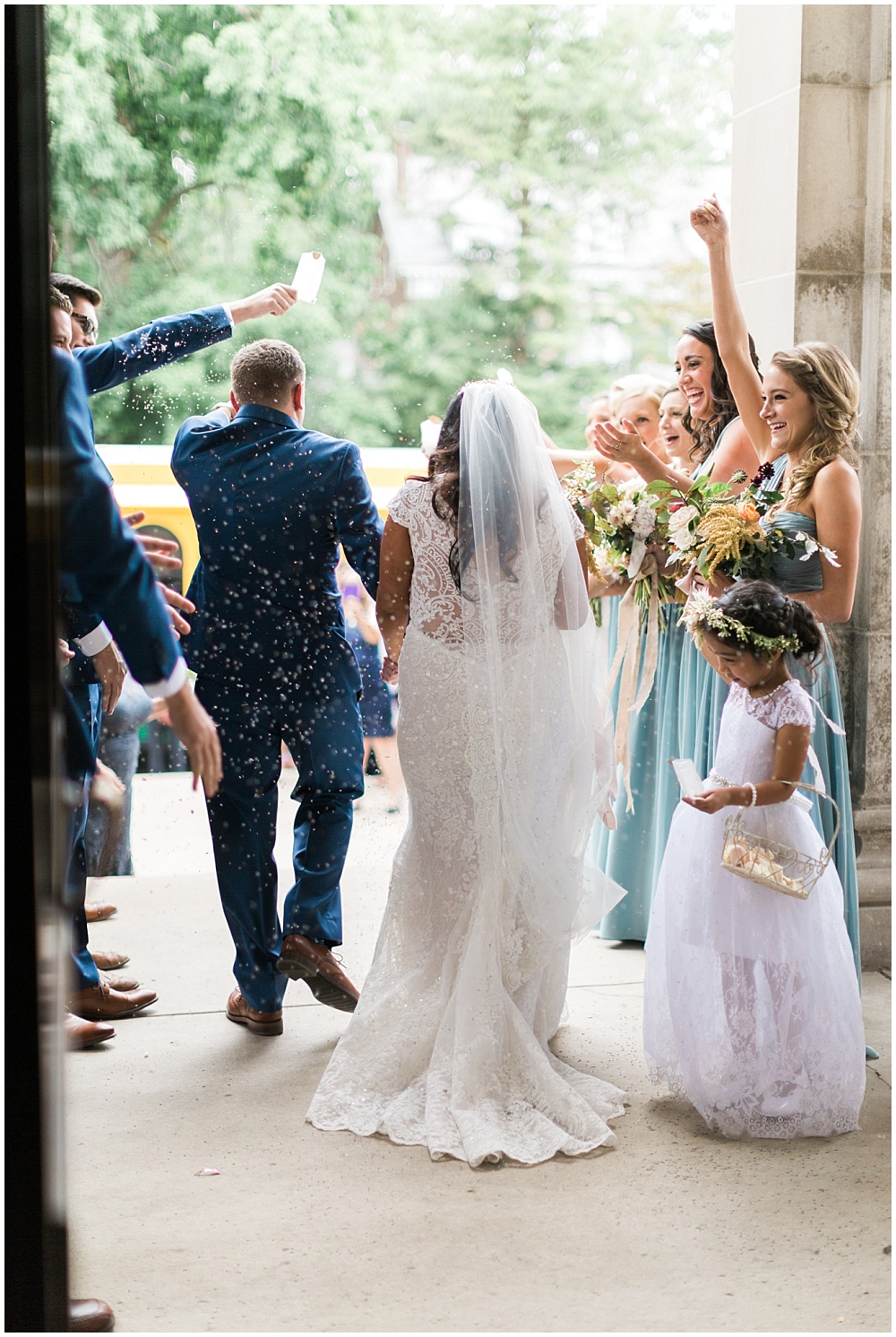 7 Waysto Make Your Wedding Interactive | interactive wedding; wedding ideas; church exit; confetti toss; wedding exit; formal exit; birdseed toss; lavender toss
