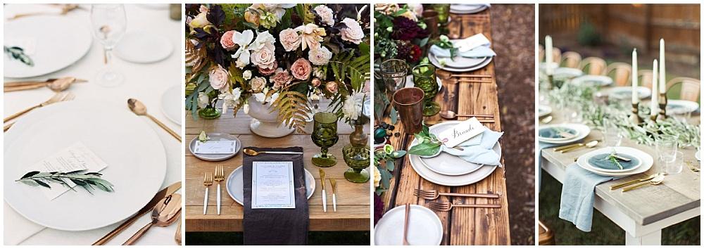 Wedding reception decor ideas that make a big impact | reception flatware, wedding flatware, colored flatware, reception tablescape, modern flatware, gold flatware, bronze flatware