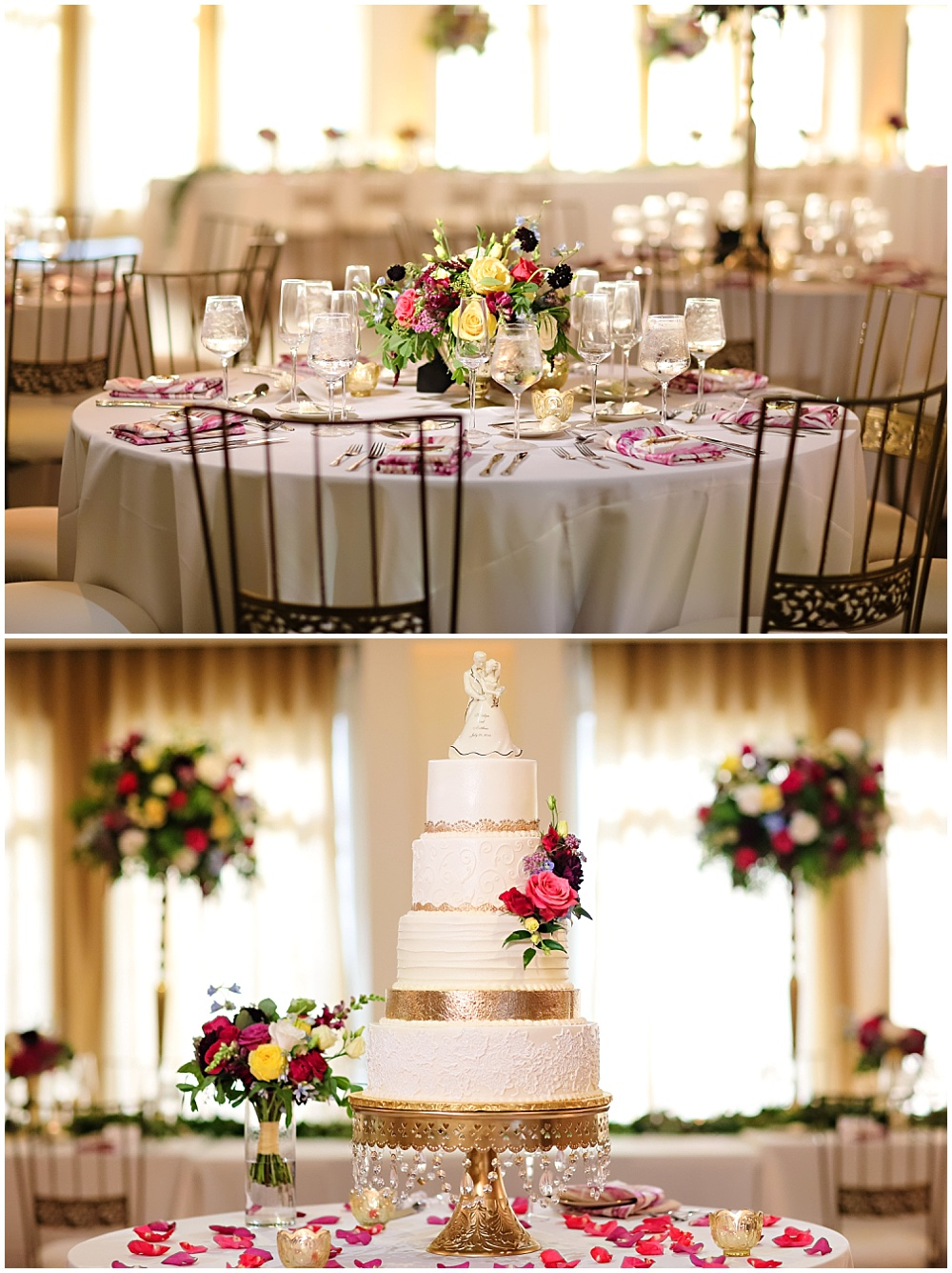 Colorful Carmel Indiana wedding alongside Jessica Strickland Photography | colorful wedding tablescape