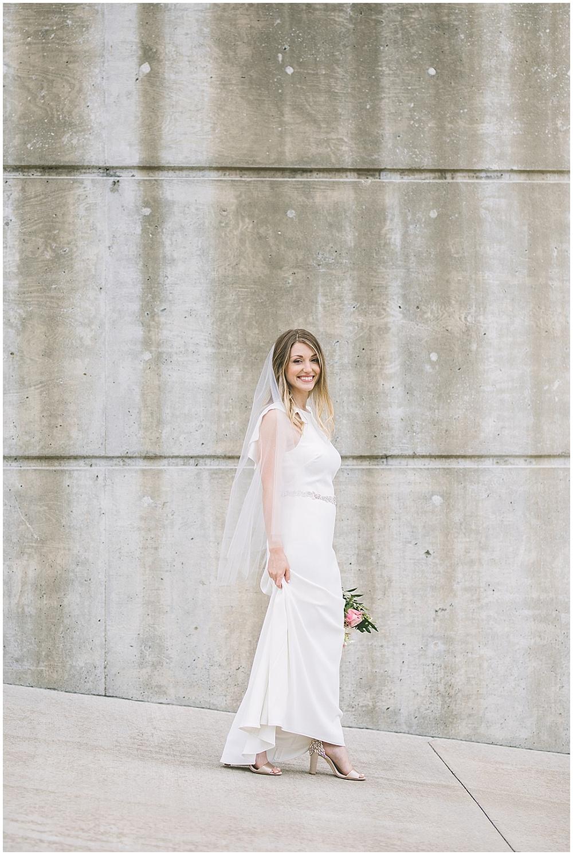 A garden-inspired Purdue University wedding | Purdue alumni wedding, shively club wedding, boilermaker wedding, blush wedding, bridal portraits
