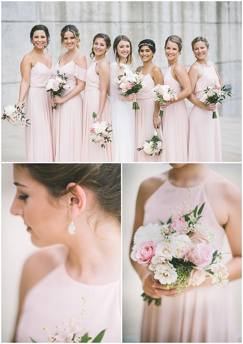 A garden-inspired Purdue University wedding | Purdue alumni wedding, shively club wedding, boilermaker wedding, blush wedding, blush bridesmaid dresses