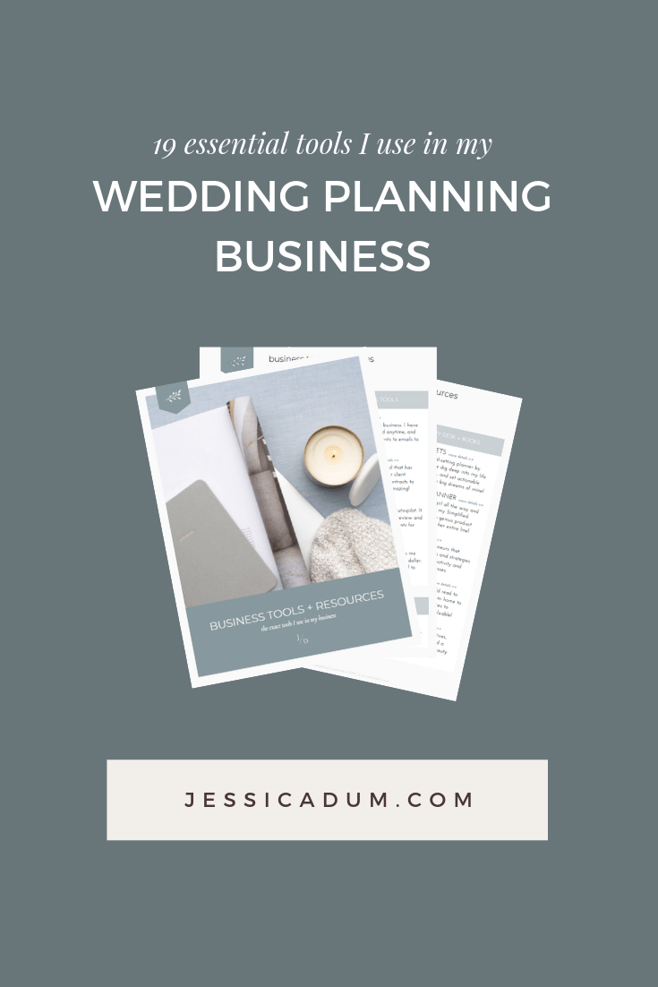 Download the exact list of business resources and tools I use in my wedding planning business for free. As a small business owner, it's imperative to find the right business tools to assist in making your life easier and as productive as possible, and I've rounded up my favorites! Download this free resource list today!