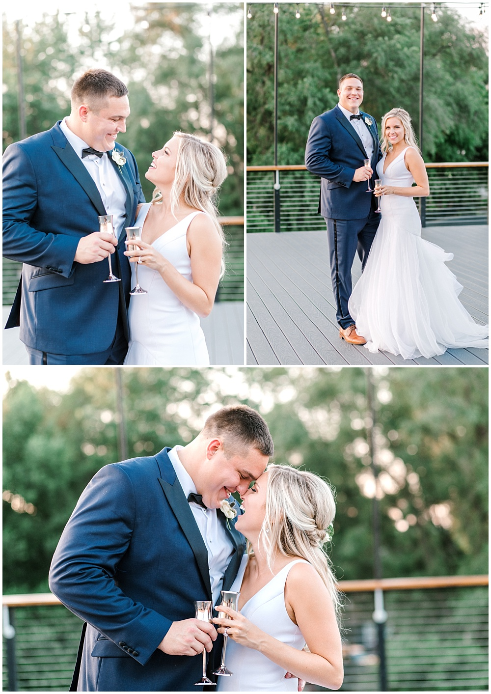 Bride and groom sunset portraits | NFL Player Nick Martin's rustic chic summer wedding at the Biltwell Event Center