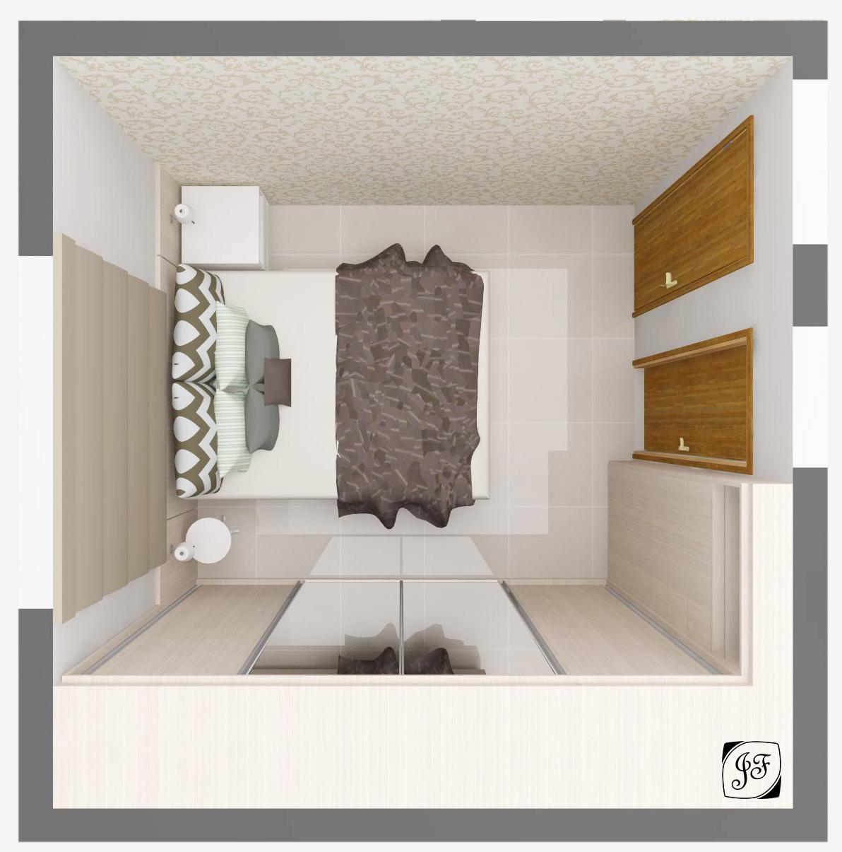 Apartamento Fam Lia R L J Ssica Faria Designer De Ambientes ~ Quarto Casal Planejado Para Apartamento Pequeno