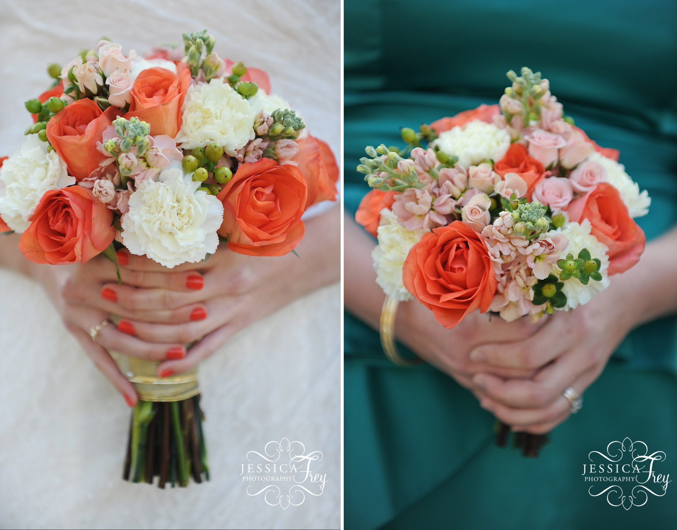 A Sweet Coral & Teal Wedding – Details