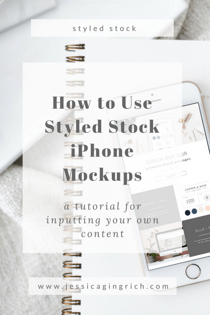 how to use styled stock iphone mockups - jessica gingrich creative