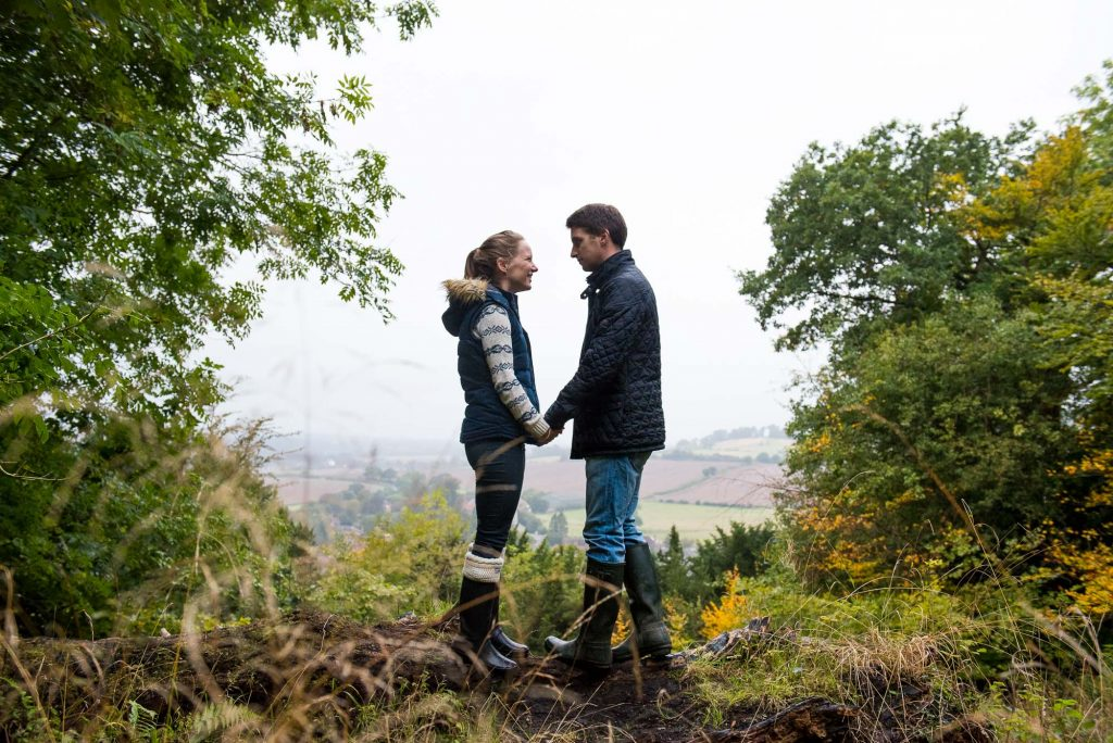 Countryside engagement photography Surrey