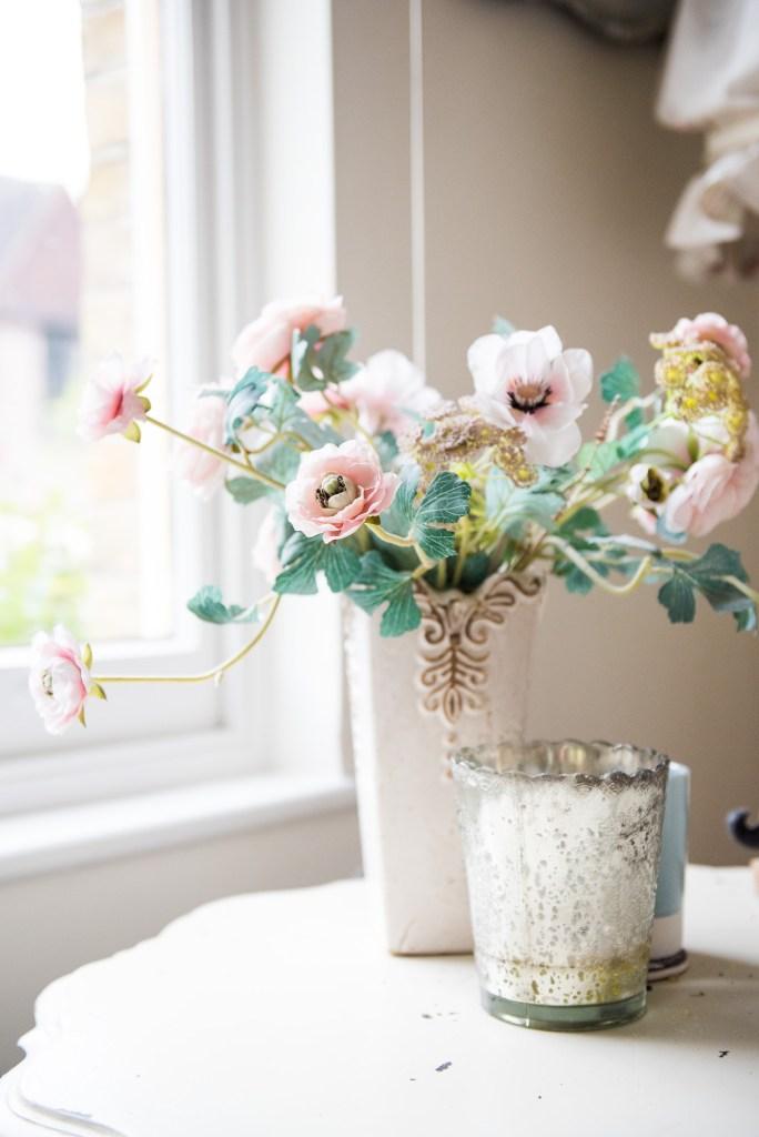 1 Pastel spring flowers with rustic vase Surrey