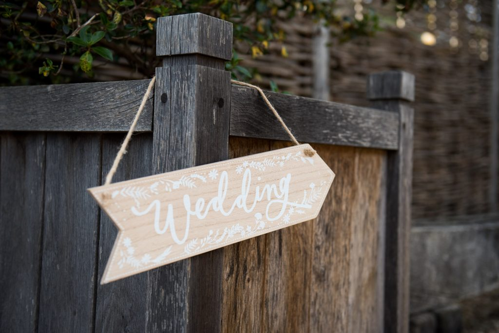 Wedding sign Gate Street Barn