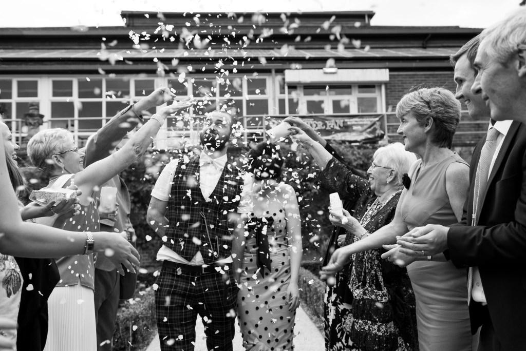 Confetti wedding portrait Berkshire