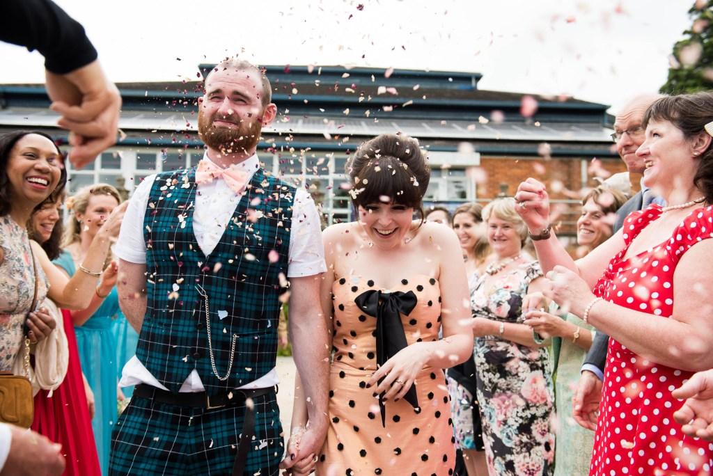 Confetti wedding portrait Wilde Theatre Berkshire