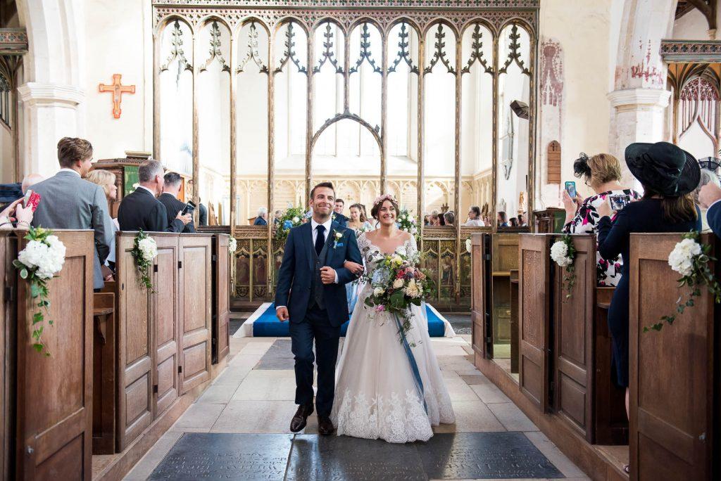 Jay West Bride with Calvin Klein groom Norfolk church wedding portrait
