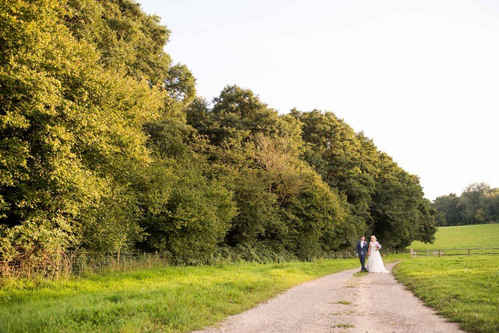 Countryside wedding portrait