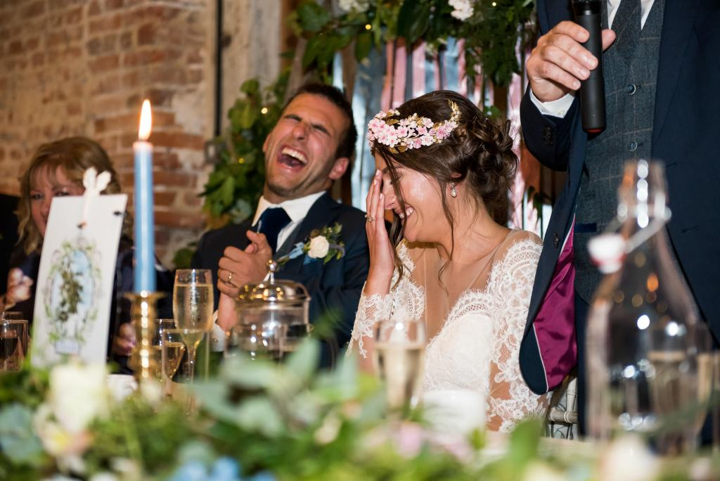 Funny wedding speech Norfolk Barn wedding
