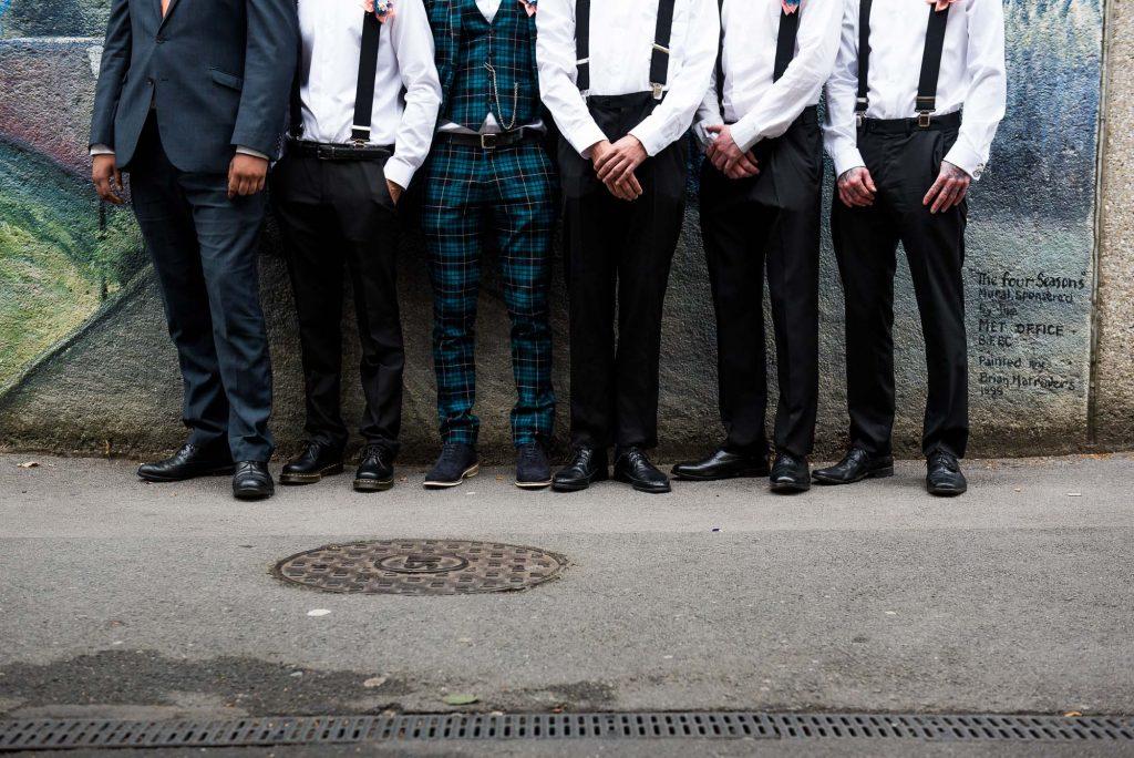 Groom with groomsmen pre wedding photography Berkshire