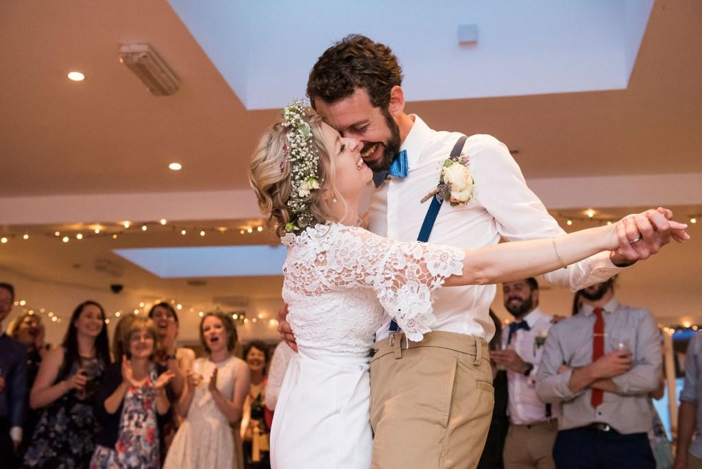 First wedding dance rustic wedding Cornwall