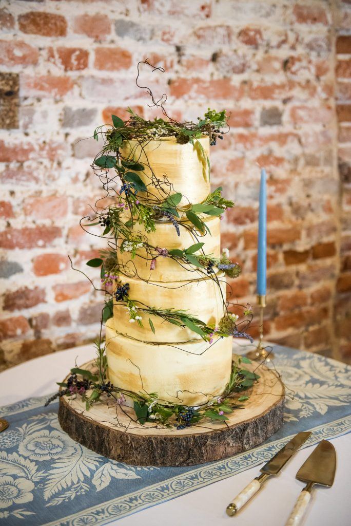 Gold wedding cake Norfolk