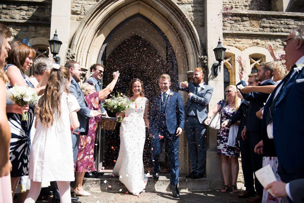 Confetti wedding portrait Surrey