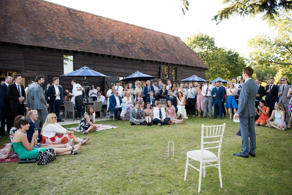 Outside speeches at Loseley Park Surrey