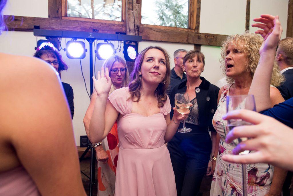 Bridesmaid having fun and dancing Surrey