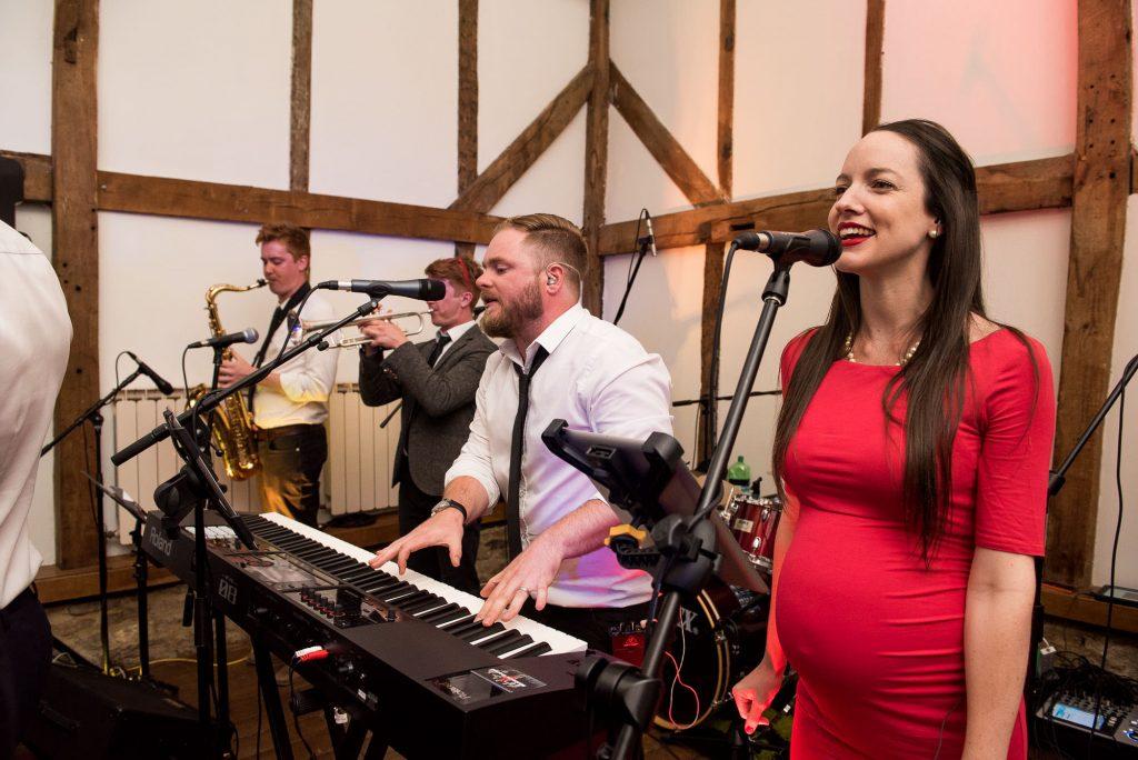 Live band Surrey Barn wedding