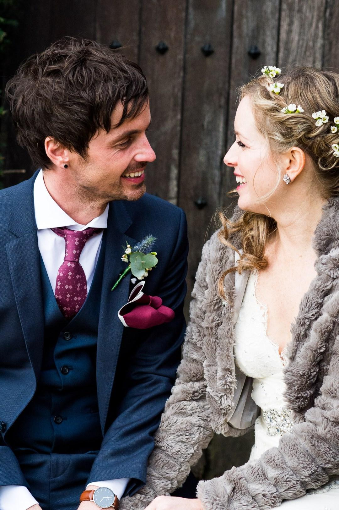 Natural wedding portrait Essex Barn Wedding