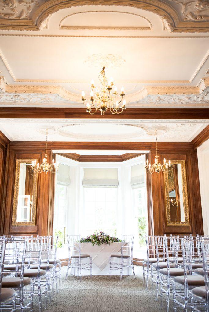Ceremony room Barnett Hill Hotel Surrey Wedding