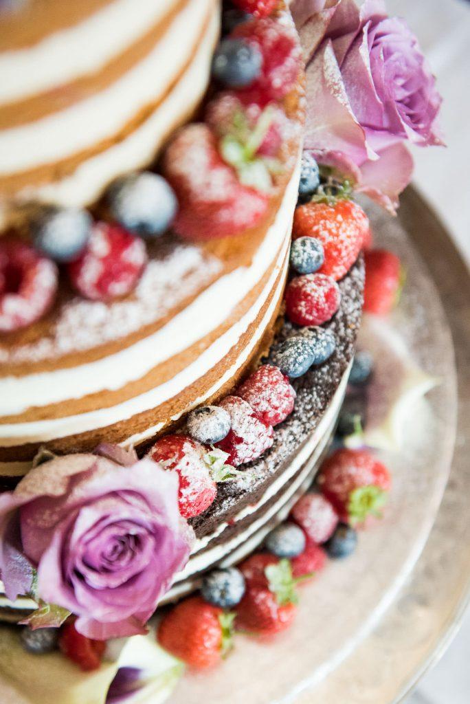 Beautiful naked wedding cake by Alexander Taylor Cakes Surrey wedding
