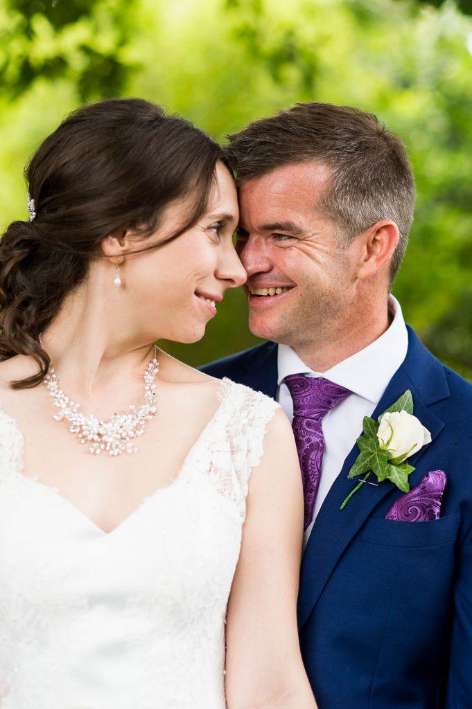 Intimate Surrey wedding portrait